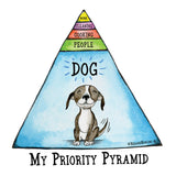 My Priority Pyramid mug - Red and Howling