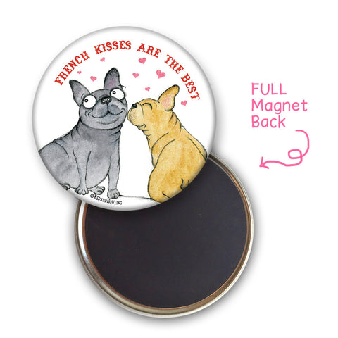 French Kisses Magnet - Red and Howling