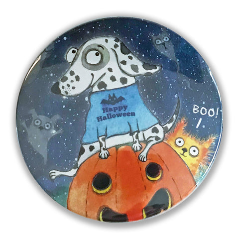 Happy Halloween Magnet - Red and Howling