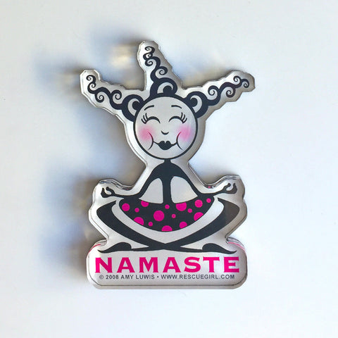 Namaste Magnet - Red and Howling