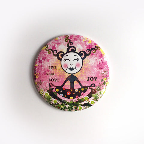 Live, Laugh, Love, Joy Pocket Mirror - Red and Howling