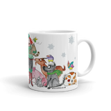 Love All The Animals Holiday Mug - Red and Howling