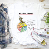 """My Life: A Pie Chart"" Dog T-Shirt - Red and Howling"