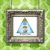 """My Priority Pyramid"" Archival Giclée Print - Red and Howling"