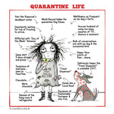 """Quarantine Life"" Archival Giclée Print - Red and Howling"