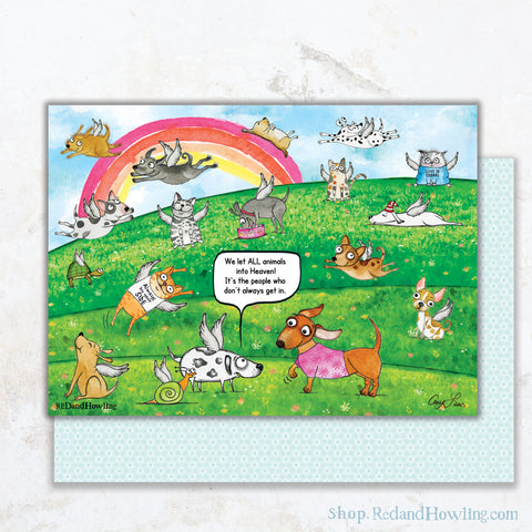"""Heaven"" Greeting Card"