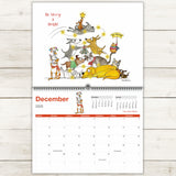 NEW! Premium Wall Calendar - 2020 Limited Edition - Red and Howling