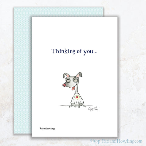 """Cake: Thinking of You"" Greeting Card"