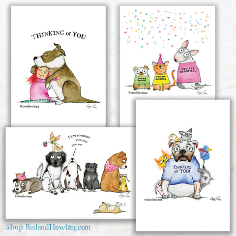"""Thinking of You"" Greeting Card Set"