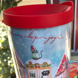 "Travel Mug -""The Best Neighborhood"" Special Christmas Edition - Red and Howling"