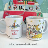 """Be Merry"" Holiday Mug (NEW for 2019!) - Red and Howling"