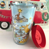 "NEW! Travel Mug -""Be Merry"" Special Christmas Edition - Red and Howling"