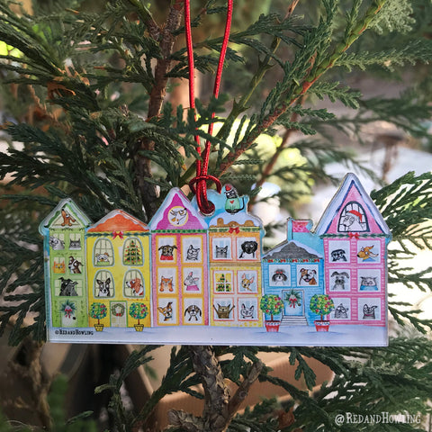 "2018 Christmas Ornament: ""The Best Neighborhood""-Limited Edition - Red and Howling"