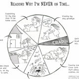 """Reasons Why I'm Never On Time"" (Dog) Archival Giclée Print - Red and Howling"