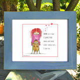 """I Love You More"" Archival Giclée Print - Red and Howling"