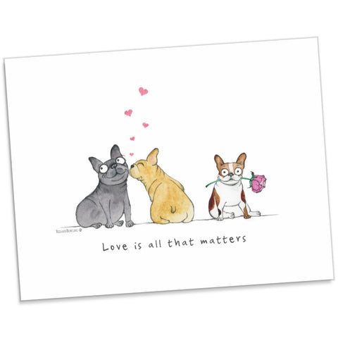 """Love Is All That Matters"" Archival Giclée Print - Red and Howling"