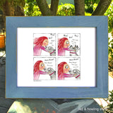 """More Kisses"" Archival Giclée Print - Red and Howling"