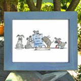 "DONATION Print: ""Life Is Better With Schnauzers"" Archival Giclée - Red and Howling"