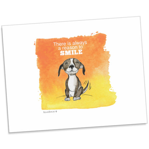 """Smile"" Archival Giclée Print - Red and Howling"