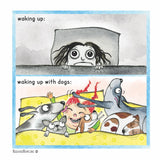 """Waking Up With Dogs"" Archival Giclée Print - Red and Howling"