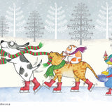 """Ice Skating"" Holiday Archival Giclée Print - Red and Howling"