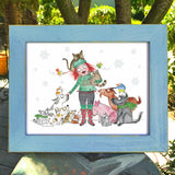 """Love All The Animals"" Holiday Archival Giclée Print"