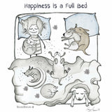 """Happiness is a Full Bed"" Archival Giclée Print - Red and Howling"