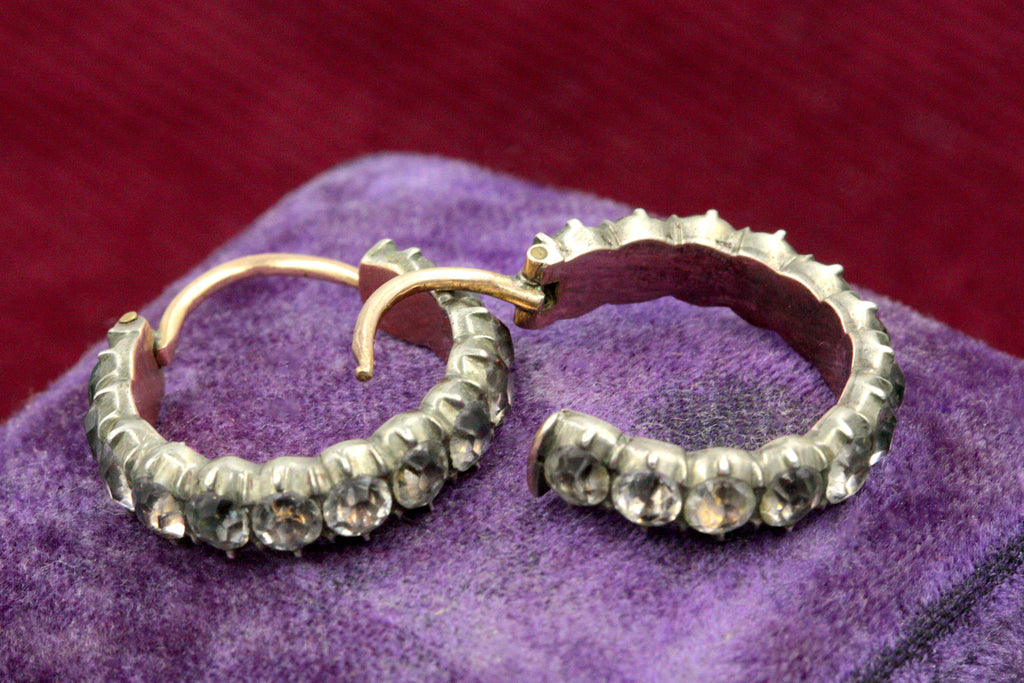 Georgian Paste Hoop Earrings