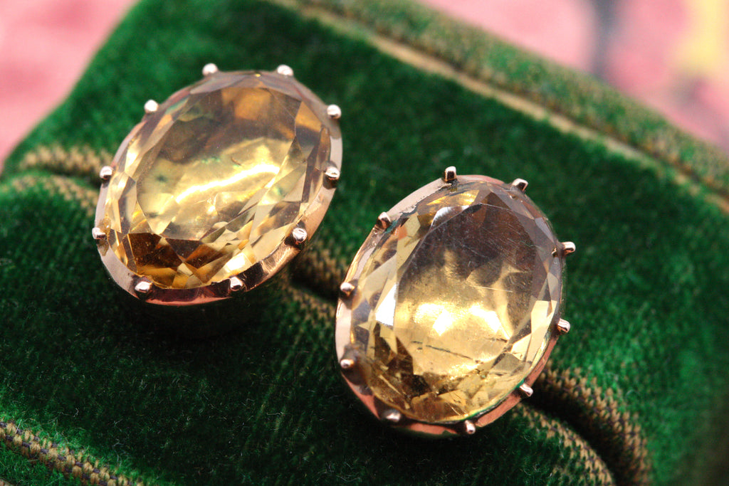 Georgian Citrine Studs