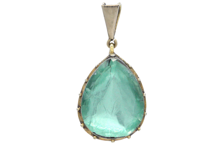 Georgian Green Drop Pendant