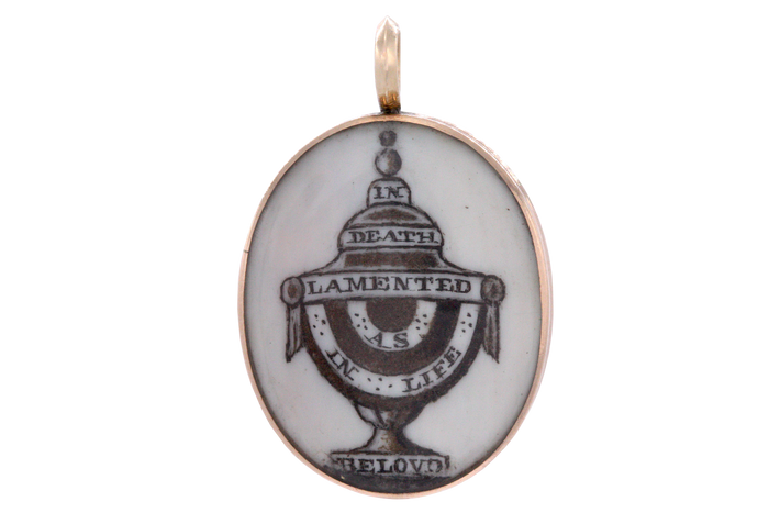 Georgian Mourning Urn Pendant