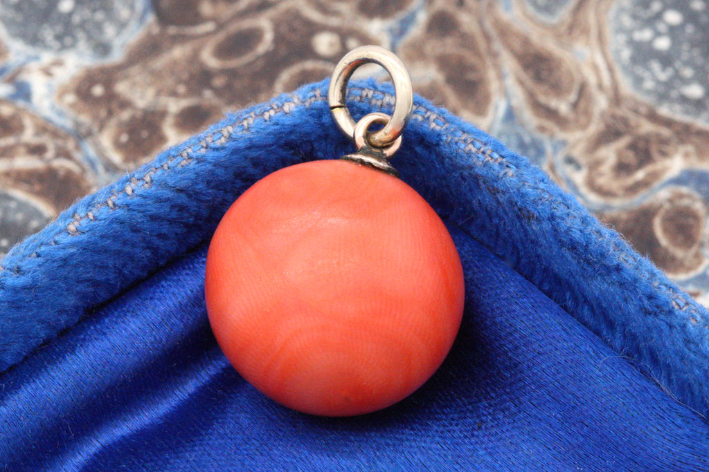 Victorian Coral Orb Charm