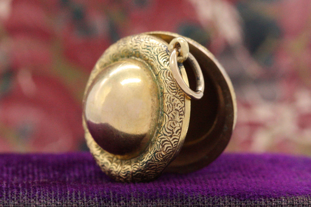 Victorian Saturn Orb Locket