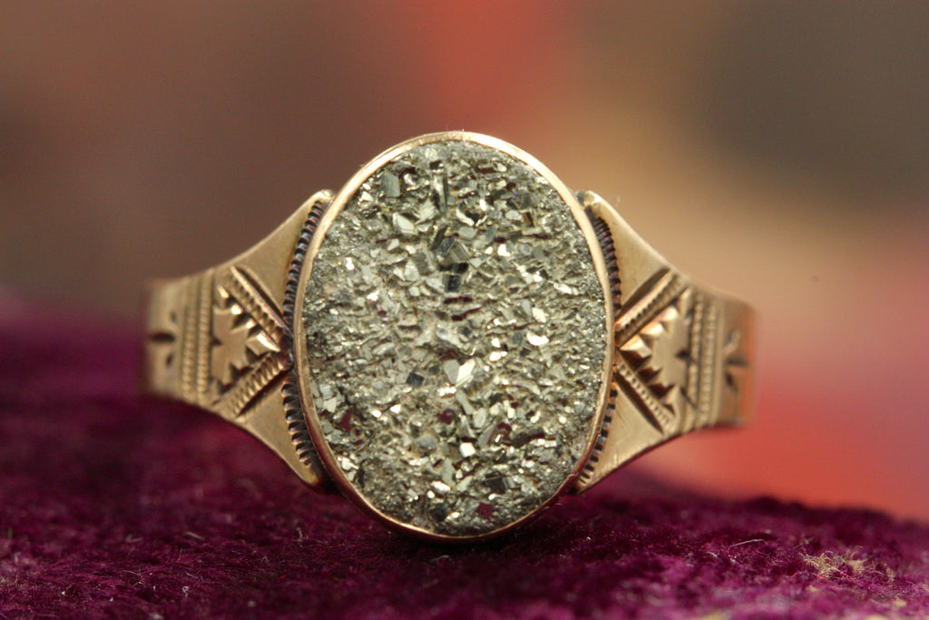 Victorian Pyrite Ring