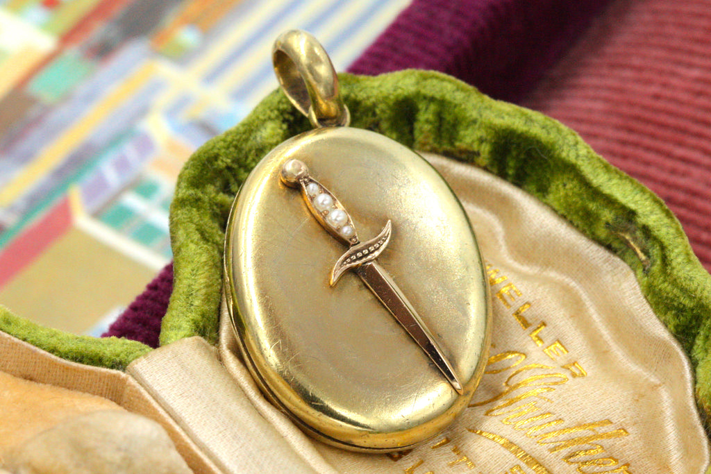 Victorian Dagger Locket