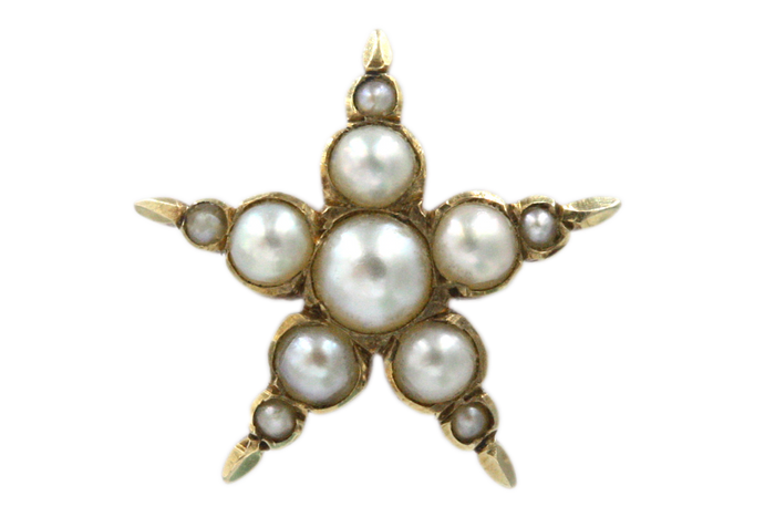 Victorian Pearl Star Single Stud