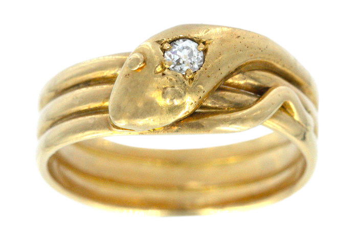 1901 Diamond Snake Ring