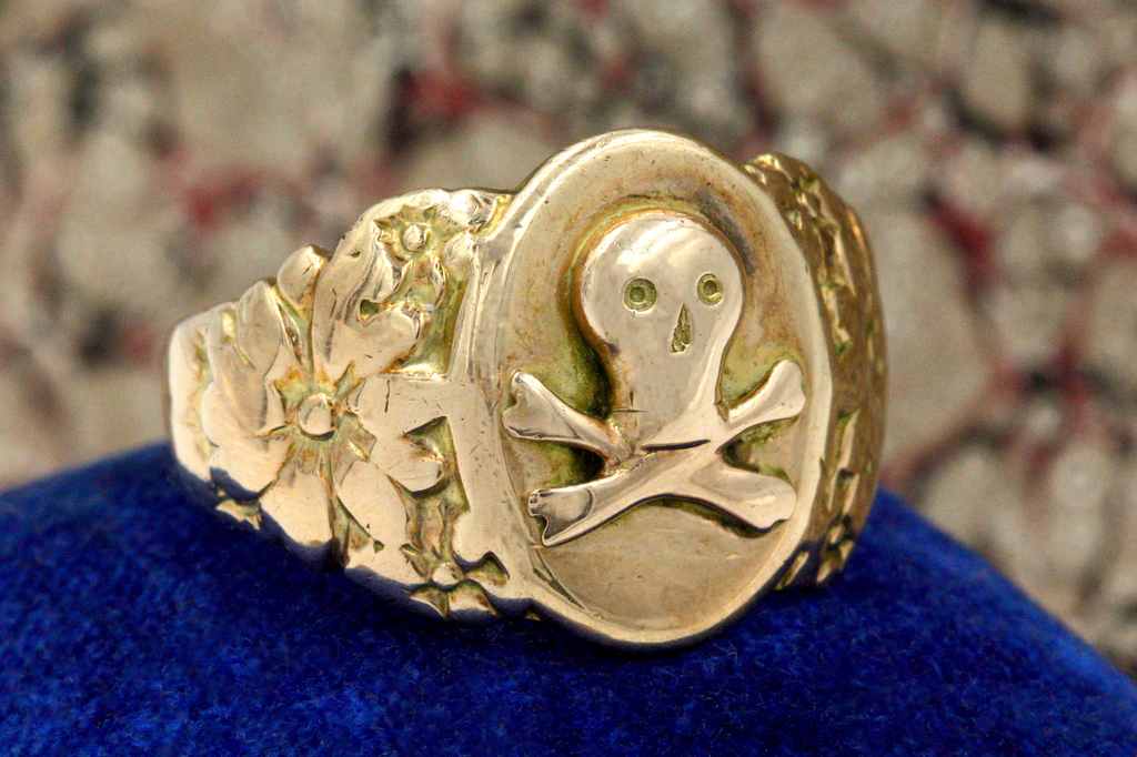 Edwardian Skull Signet Ring