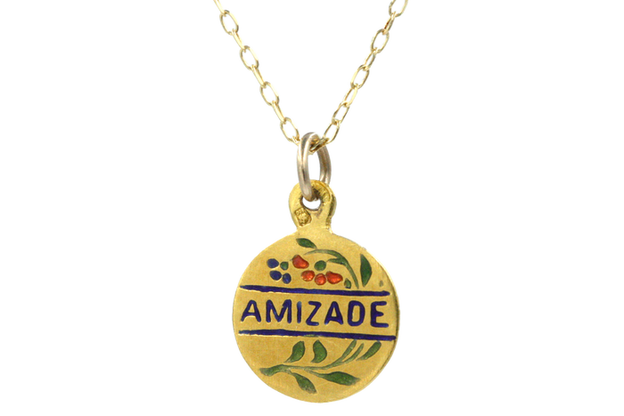 Vintage Portuguese Friendship Charm Necklace