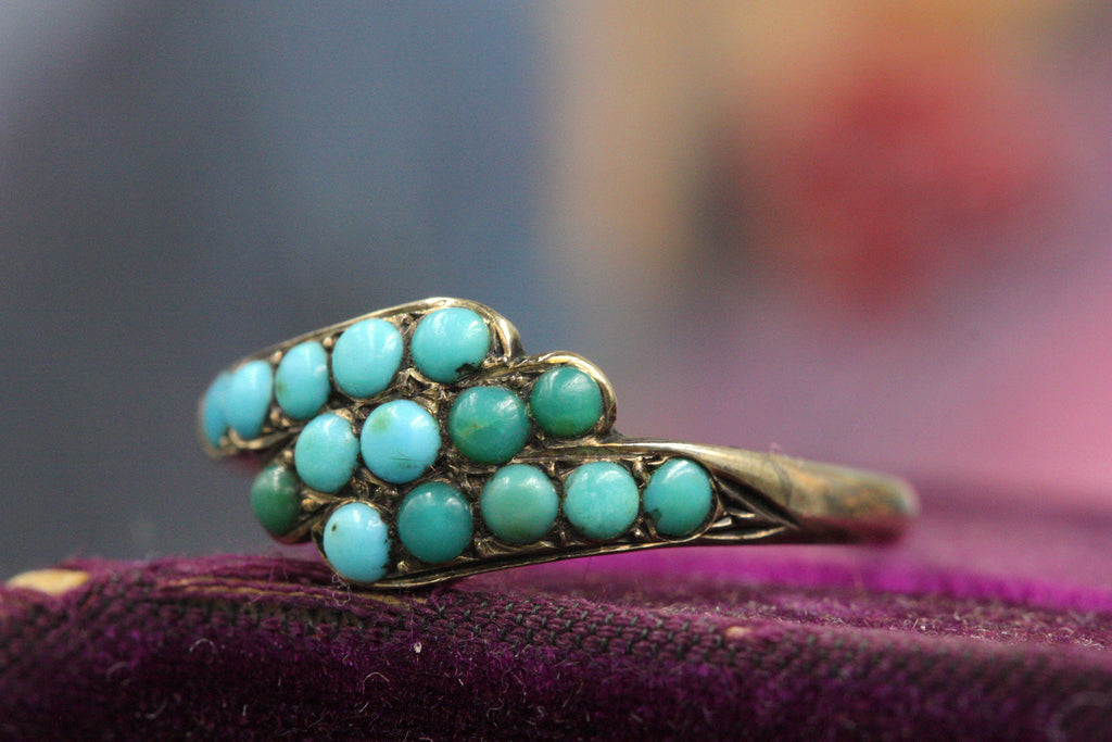 Victorian Turquoise Bypass Ring