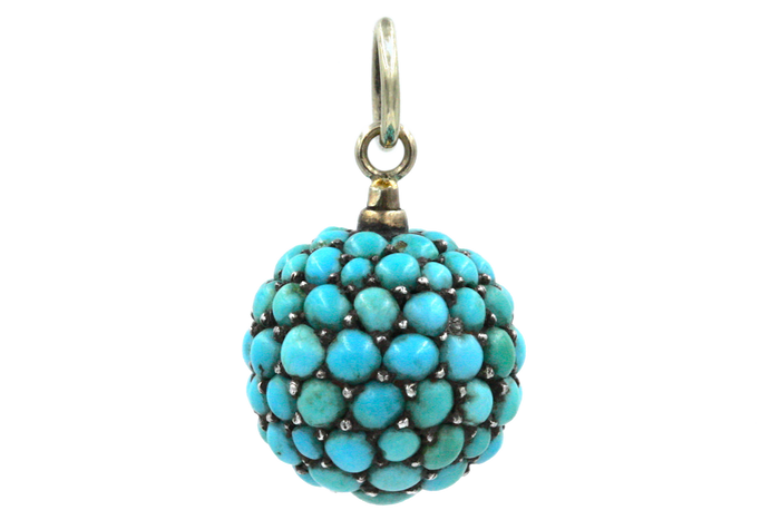 Victorian Turquoise Pavé Orb Charm