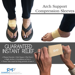 Arch Compression Sleeves - Tan