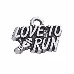 Love To Run Charm Pendant