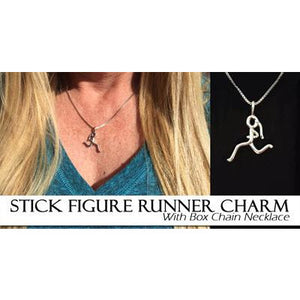 Silver Stick Figure Runner Necklace