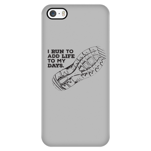 Running Adds Days To My Life Phone Case (Grey)