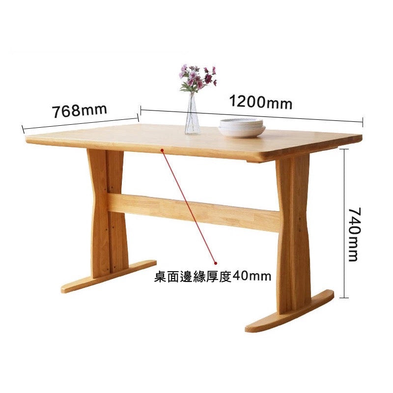 HOHOLIFE Silver Age Lifestyle Store Wooden Dining Table Silver - Aged wood dining table