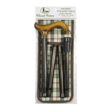 Classic Canes Brown with Ash Handle Folding Derby with wallet - HOHOLIFE