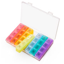 將圖片載入圖庫檢視器 7 Days 28 Compartments Rainbow Pill Organizer - HOHOLIFE
