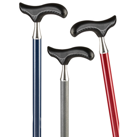 Ossenberg Light Metal Adjustable Walking Stick with Soft Carbon Look Handle - HOHOLIFE