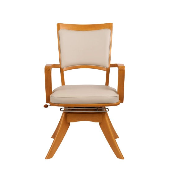 Japanese Turnable Dining Chair with Lock and Slide Feature